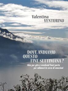 Dove andiamo questo fine settimana? - Valentina Venturino - ebook