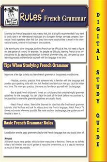 French grammar. Blokehead easy study guide