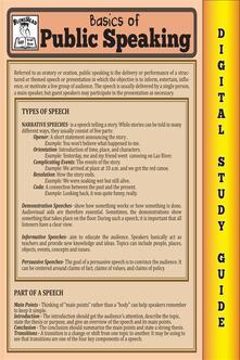 Public speaking. Blokehead easy study guide