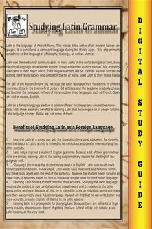 Latin grammar. Blokehead easy study guide