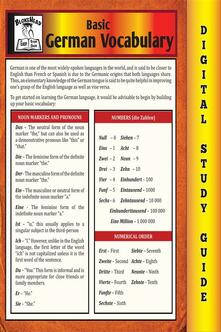 German vocabulary. Blokehead easy study guide