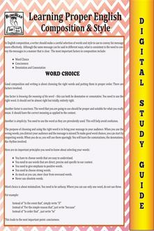 English composition. Blokehead easy study guide