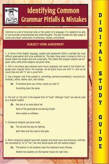 Common grammar pitfalls & mistakes. Blokehead easy study guide