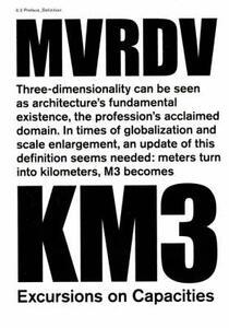 Mvrdv. Km3: excursions on capacity - copertina