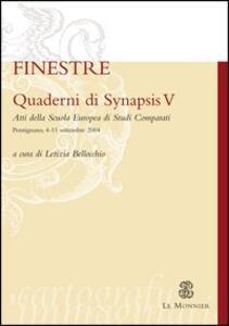 Quaderni di Synapsis. Vol. 5: Finestre. - copertina