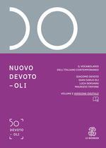 Nuovo Devoto-Oli. Il vocabolario dell'italiano contemporaneo 2022. Con App scaricabile su smartphone e tablet