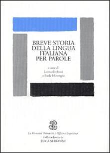 Breve storia della lingua italiana per parole - copertina