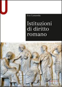 Libro Istituzioni di diritto romano Eva Cantarella