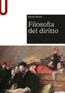 Filosofia del diritto - Persio Tincani - copertina