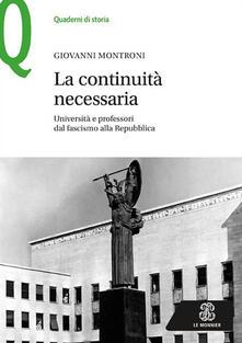 Antondemarirreguera.es La continuità necessaria. Università e professori dal fascismo alla Repubblica Image