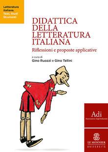 Didattica della letteratura italiana. Riflessioni e proposte applicative - copertina