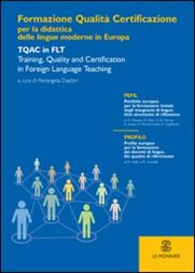 Formazione, qualità e certificazione per la didattica delle lingue moderne in Europa - copertina