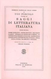 Opere. Vol. 11/2: Saggi di letteratura italiana.