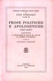 Opere. Vol. 13/2: Prose politiche e apologetiche.