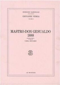 Libro Mastro don Gesualdo (1888) Giovanni Verga
