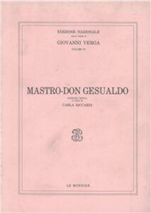 Foto Cover di Mastro don Gesualdo, Libro di Giovanni Verga, edito da Mondadori Education