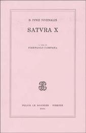 D. Iunii iuvenalis satura X