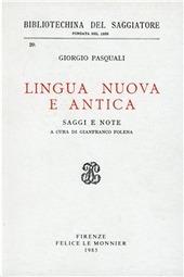 Lingua nuova e antica
