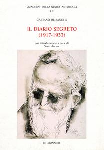 Libro Il diario segreto (1917-1933) Gaetano De Sanctis