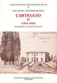 Carteggio (1834-1850) - Capponi Gino Vieusseux Giampietro - wuz.it