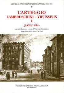 Carteggio (1826-1834)