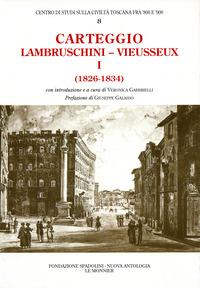 Carteggio (1826-1834) - Lambruschini Raffaello Vieusseux Giampietro - wuz.it