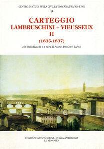 Libro Carteggio (1835-1837) Raffaello Lambruschini , Giampietro Vieusseux