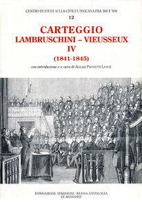 Libro Carteggio (1841-1845) Raffaello Lambruschini , Giampietro Vieusseux
