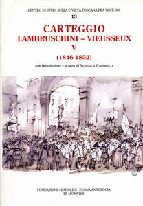 Libro Carteggio (1846-1852) Raffaello Lambruschini , Giampietro Vieusseux