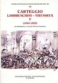 Carteggio (1846-1852) - Lambruschini Raffaello Vieusseux Giampietro - wuz.it