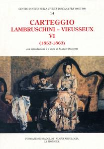 Libro Carteggio (1853-1863) Raffaello Lambruschini , Giampietro Vieusseux