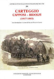 Carteggio (1817-1863) - Gino Capponi,Cosimo Ridolfi - copertina