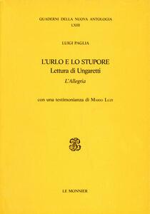 L' urlo e lo stupore - Luigi Paglia - copertina