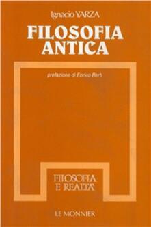 Filosofia antica - Ignacio Yarza de la Sierra - copertina