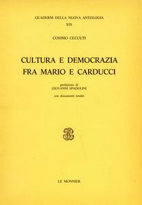 Cultura e democrazia fra Mario e Carducci