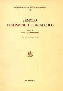 Foto Cover di Jemolo testimone di un secolo, Libro di  edito da Mondadori Education