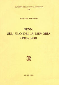 Libro Nenni sul filo della memoria (1949-1980) Giovanni Spadolini