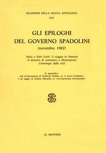 Gli epiloghi del governo Spadolini (novembre 1982) - copertina
