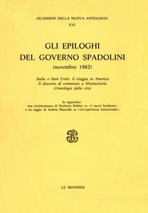 Libro Gli epiloghi del governo Spadolini (novembre 1982)