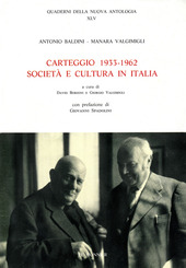 Carteggio (1933-1962). Società e cultura in Italia