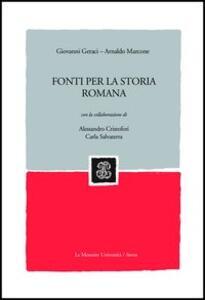 Fonti per la storia romana - copertina