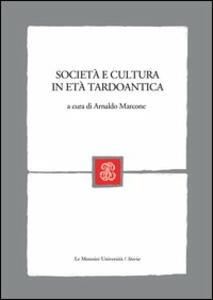 Società e cultura in età tardoantica - copertina