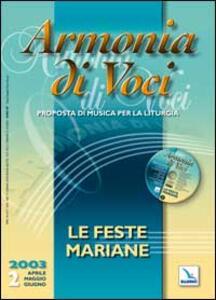 Armonia di voci (2003). Con CD Audio. Vol. 2: Le feste mariane. - copertina