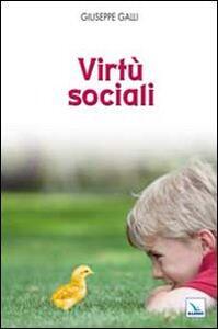Virtù sociali - Giuseppe Galli - copertina