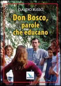 Libro Don Bosco, parole che educano