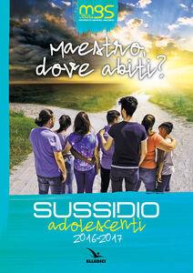 Foto Cover di Maestro, dove abiti? Sussidio adolescenti 2016-2017, Libro di  edito da Elledici