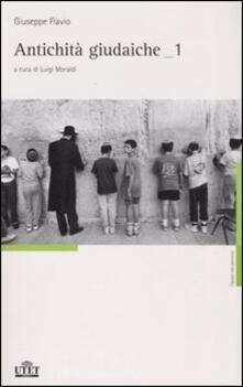 Antichità giudaiche. Ediz. integrale. Vol. 1 - Giuseppe Flavio - copertina