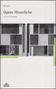 Foto Cover di Opere filosofiche, Libro di George Berkeley, edito da UTET
