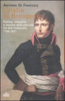 Equilibrifestival.it L' Italia di Bonaparte. Politica, statualità e nazione nella penisola tra due rivoluzioni, 1796-1812 Image