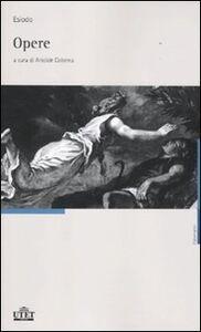 Libro Opere. Testo greco a fronte Esiodo